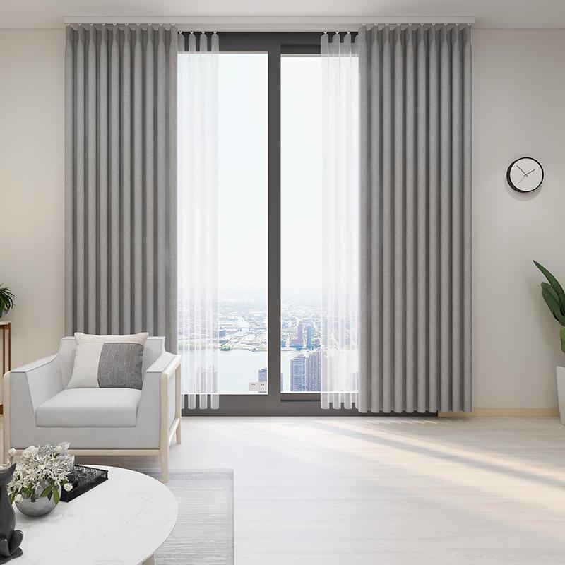 定制窗簾X19001臥室客廳陽臺定做遮光落地窗飄窗定型環保窗簾